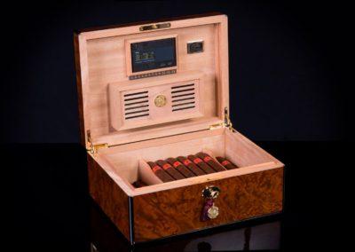 Precious Burl signature daniel marshall cigar humidor 30100 b