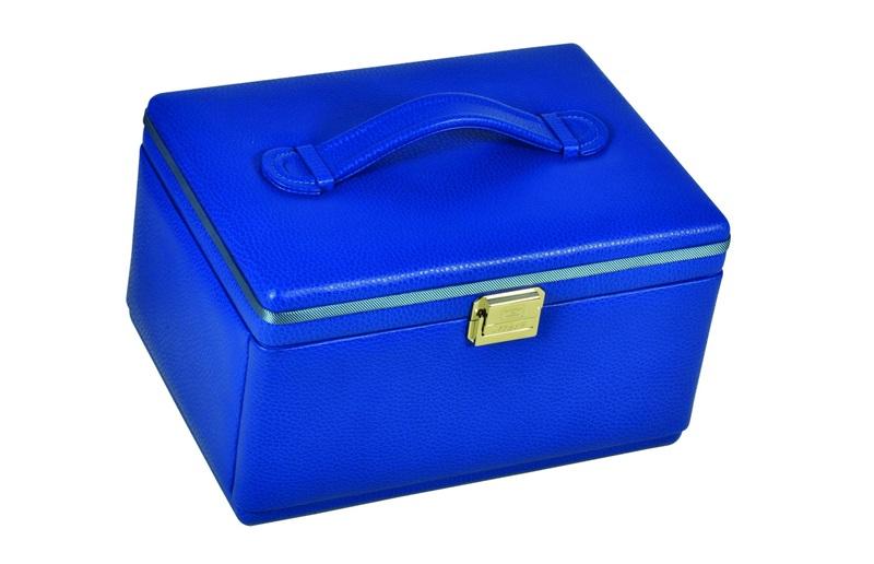 jewelry box leather ladies women luxury blue