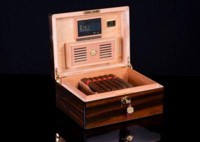 30100 Macassar daniel marshall cigar humidor