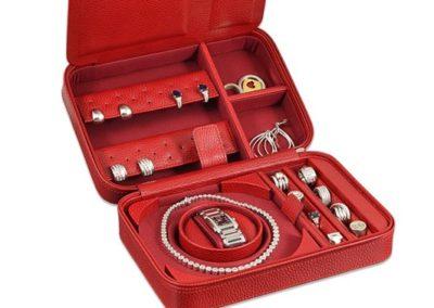 jewelry box leather ladies womens luxury